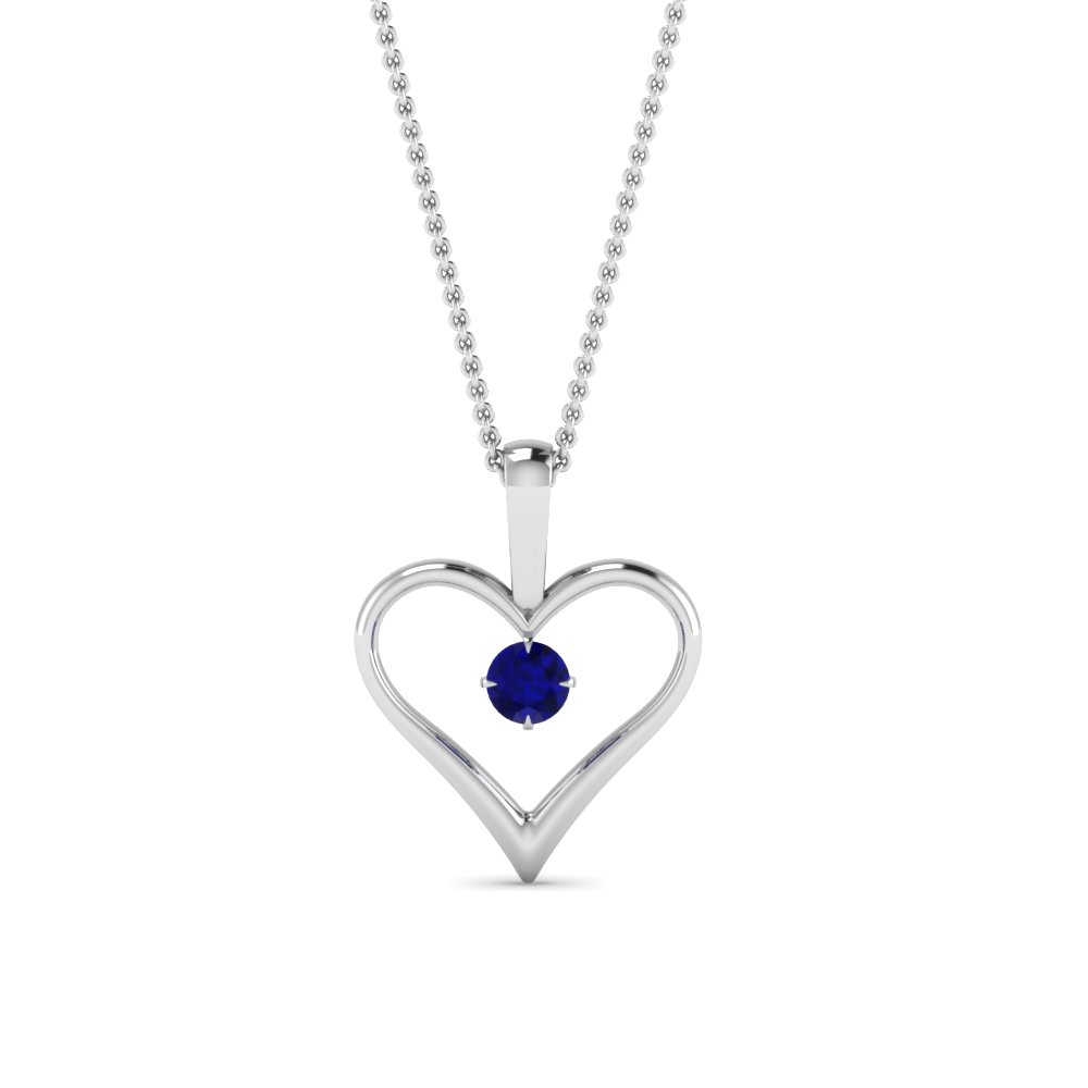 white-gold-round-blue-sapphire-solitare-heart-pendant-in-prong-set-FDPD60961GSABL-NL-WG