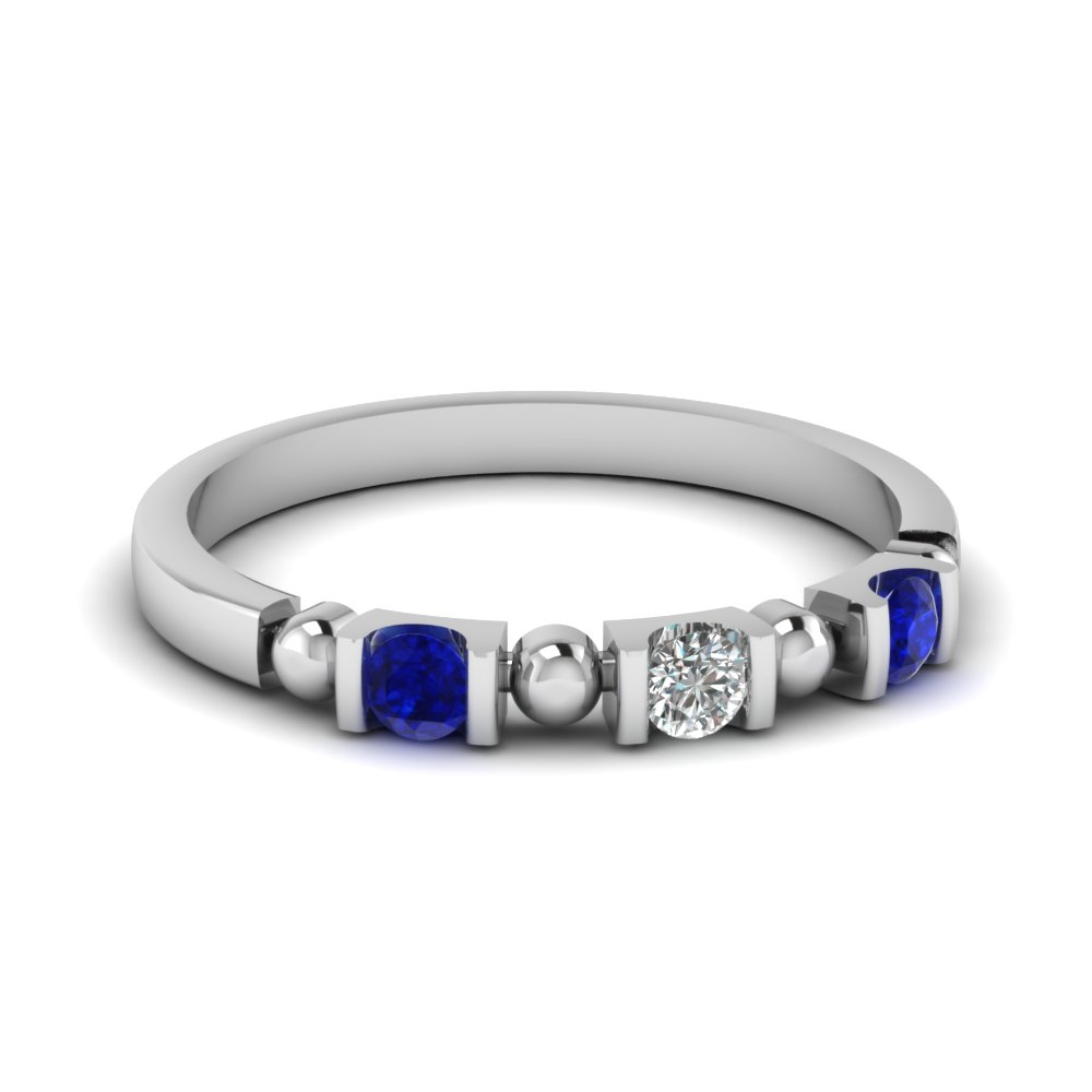 Bar Set Sapphire & Diamond Band