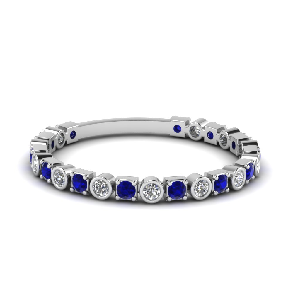 Buy Stunning Sapphire Wedding Bands For Women Fascinating Diamonds