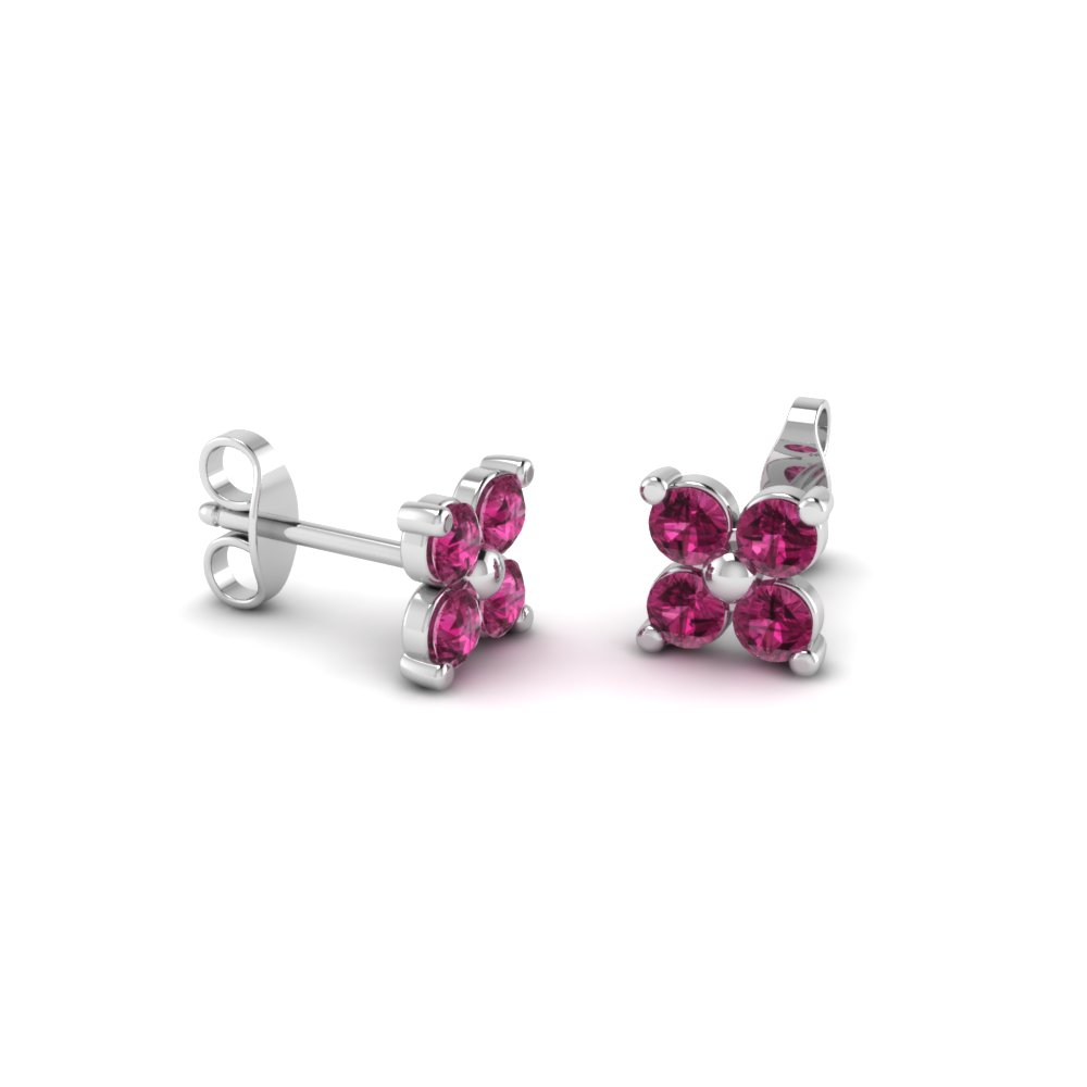 e271dc229 flower petal pink sapphire stud earring in FDEAR1073GSADRPI Nl WG. Add to  Cart. SKU: FDEAR1073