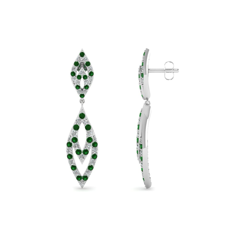 Emerald And Diamond Earrings For Women