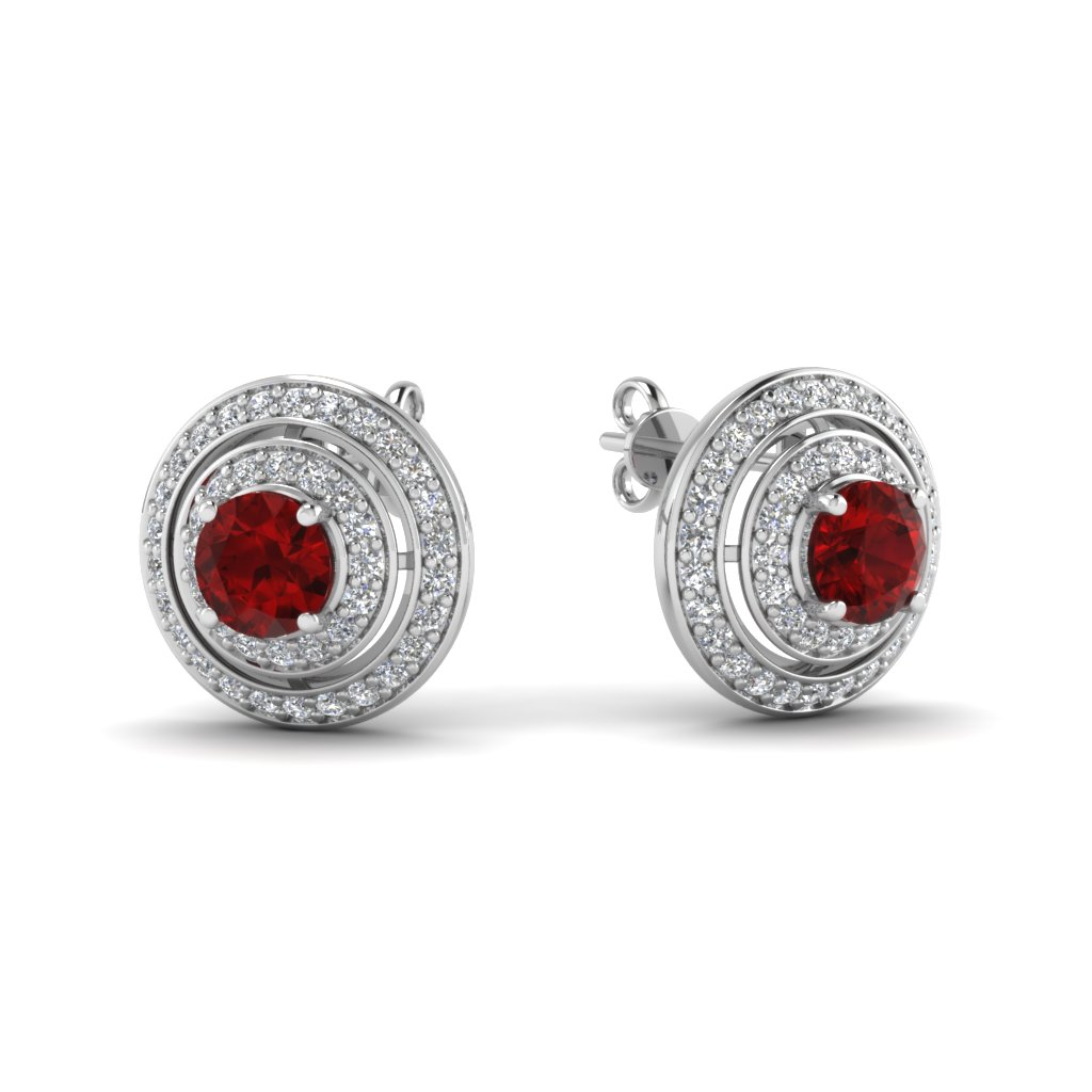 arte stone madrid earrings red tradesy i pear ruby