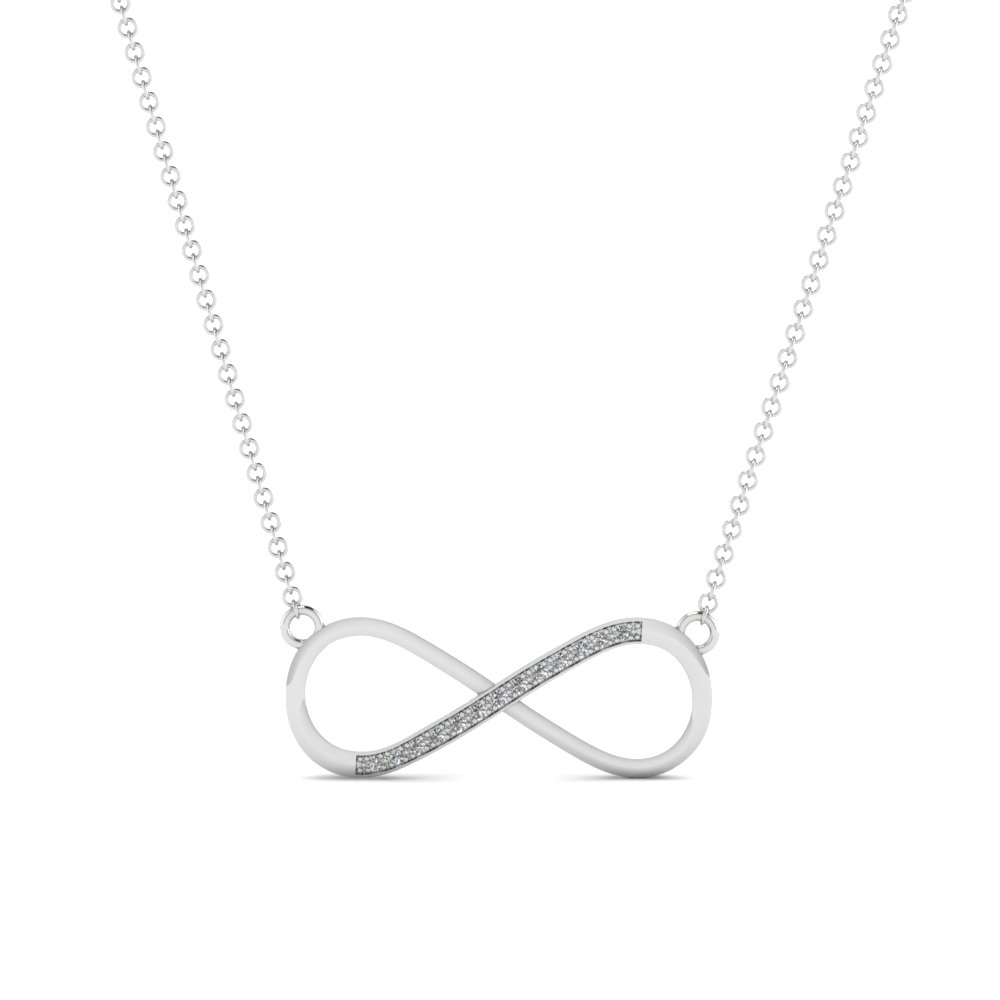 Affordable infinity diamond pendant in 14k white gold fascinating affordable infinity diamond pendant in fdpd651091 nl wg aloadofball Gallery