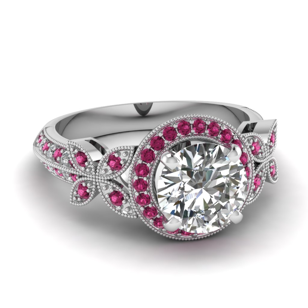 white-gold-round-white-moissanite-engagement-wedding-ring-dark-pink-sapphire-in-pave-set-FDENS3243RORGSADRPI-NL-WG