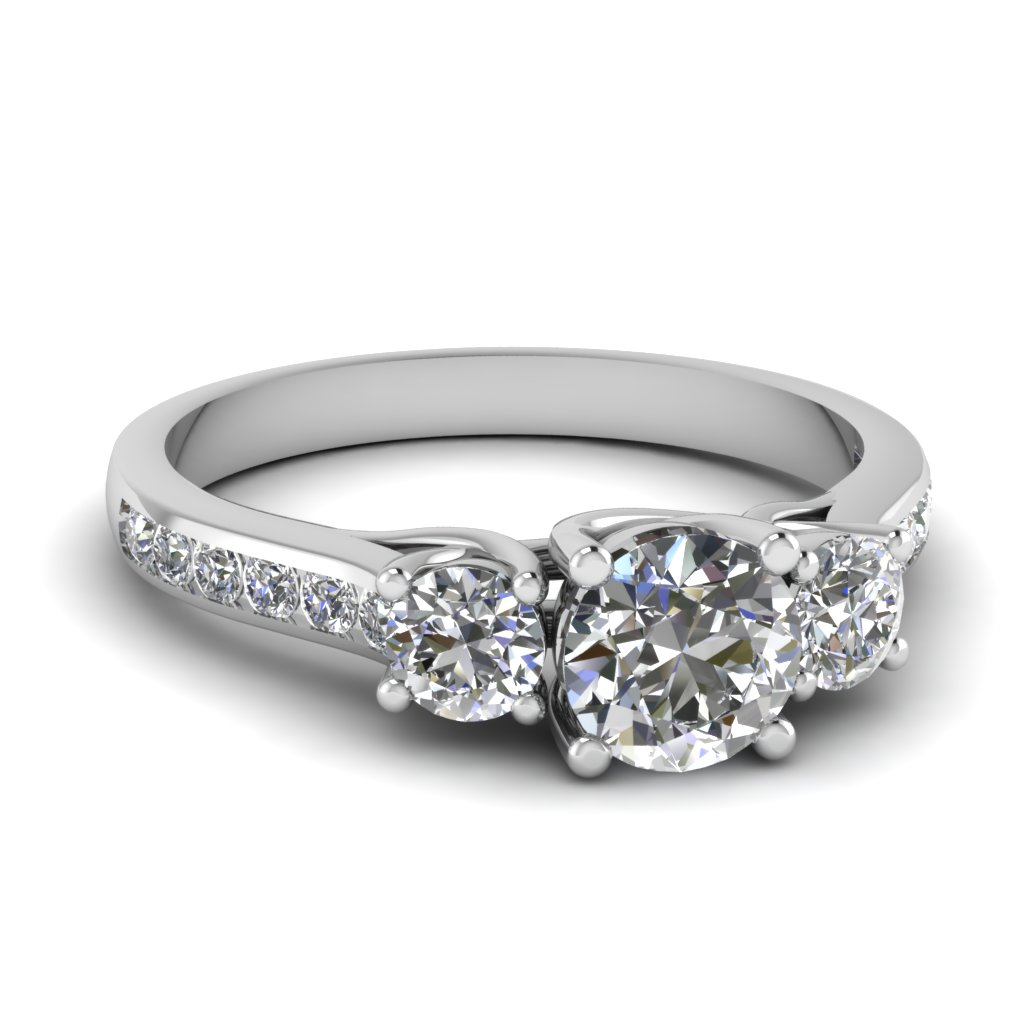 trellis channel set 3 stone diamond engagement ring in FDENR6134ROR NL WG