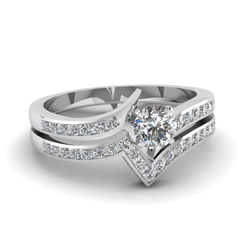 Twisted Edge Wedding Set