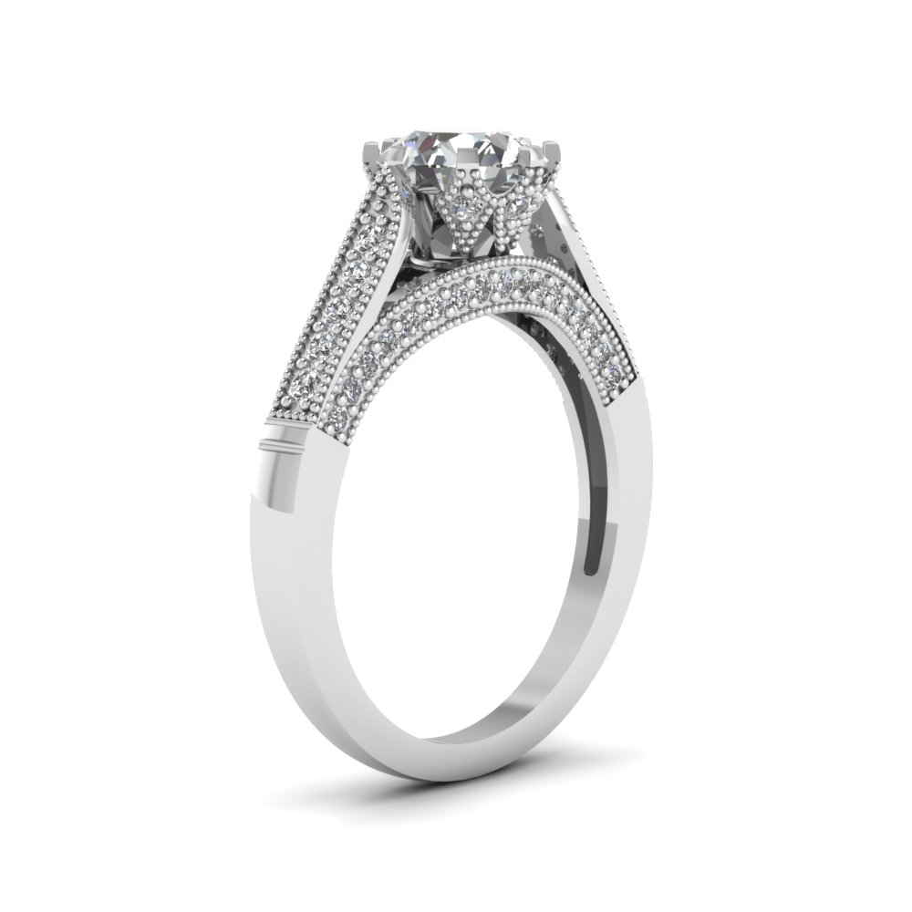High Set Pave Engagement Ring