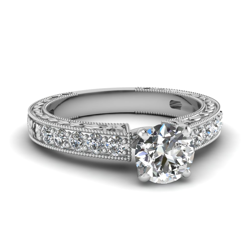 Engagement Ring For Her 0.75 Ct. Round Cut Diamond