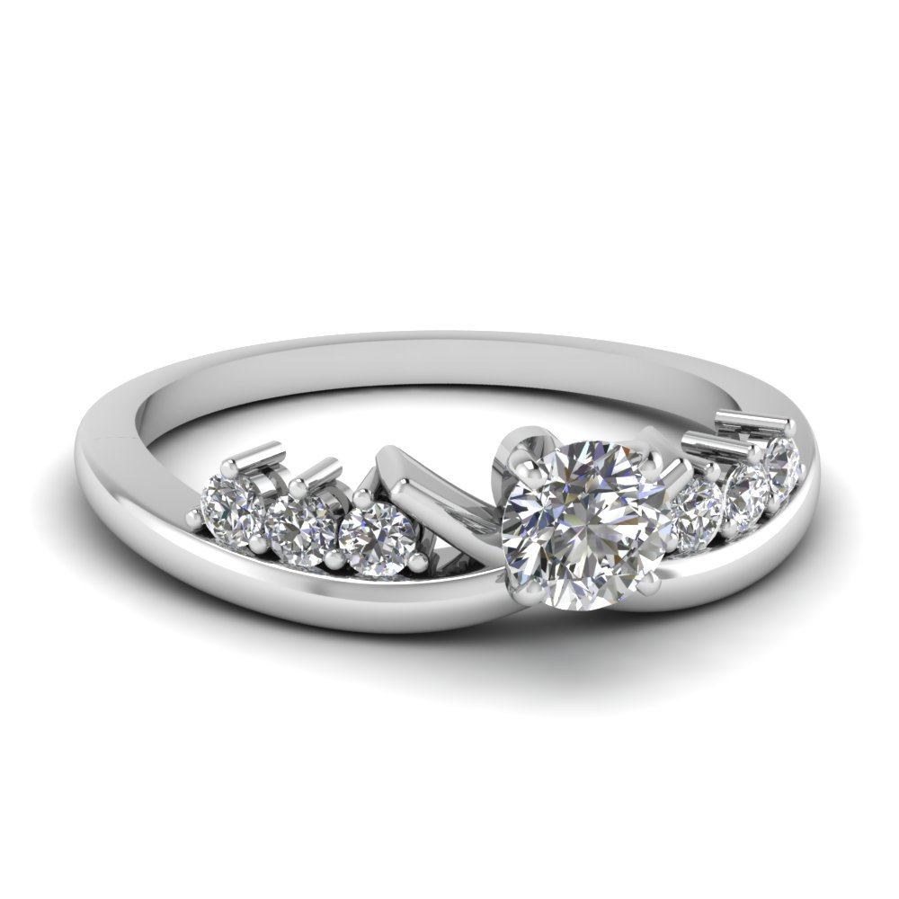 0.50 Ct. Round Cut Diamond Engagement Ring For Her