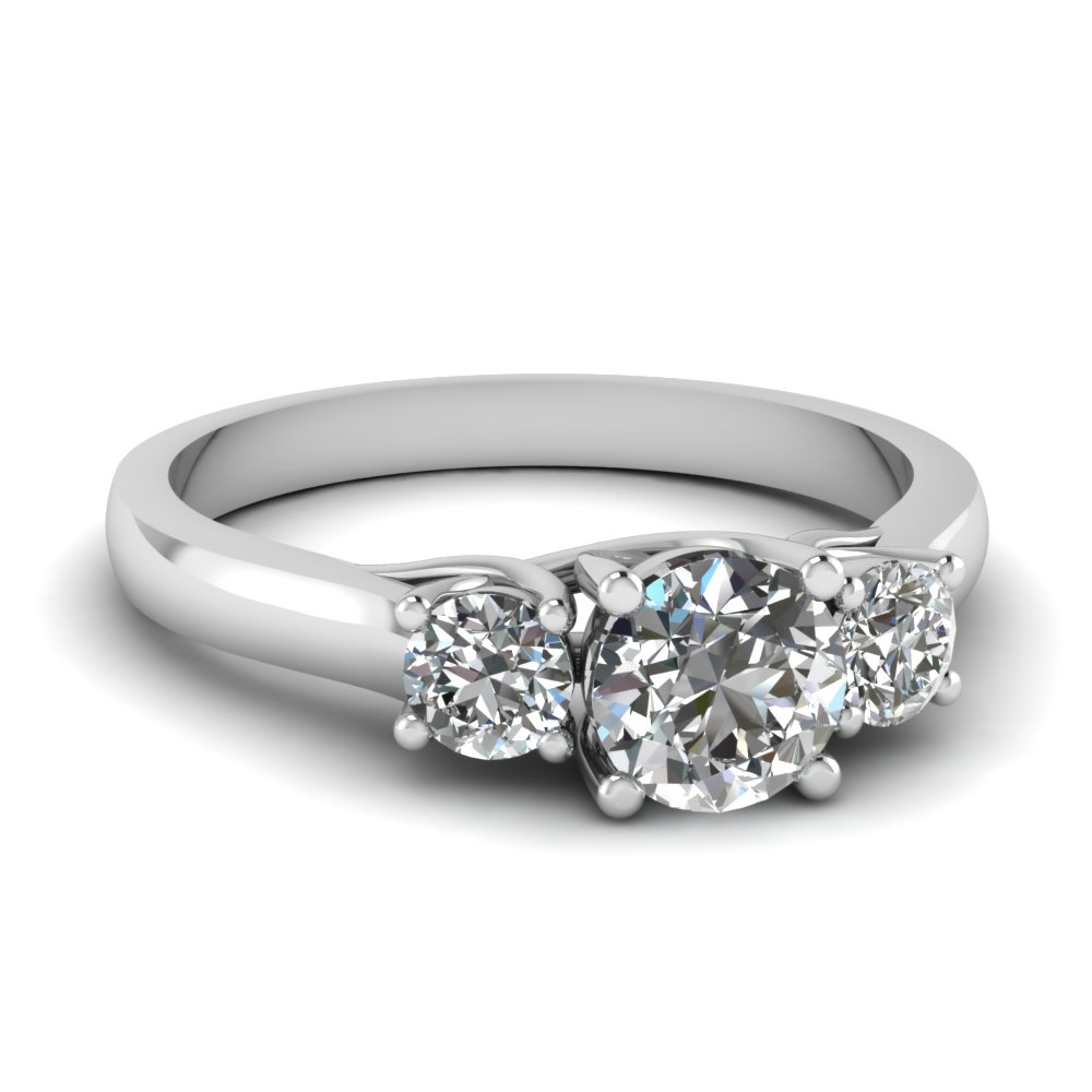 cathedral round cut 3 stone engagement ring in FDENR191ROR NL WG.jpg