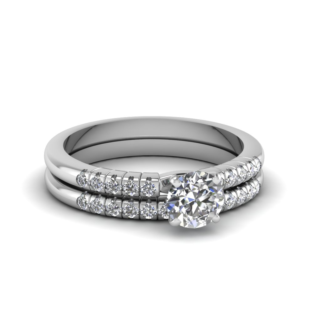 French Prong Moissanite Bridal Set
