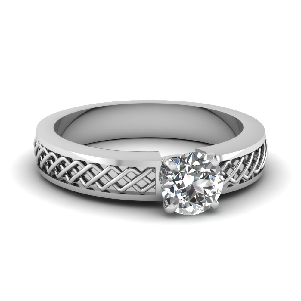 Criss Cross Engagement Ring
