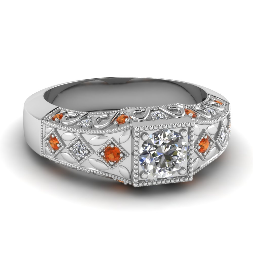 white-gold-round-white-diamond-engagement-wedding-ring-orange-sapphire-in-prong-set-FD62281RORGSAOR-NL-WG