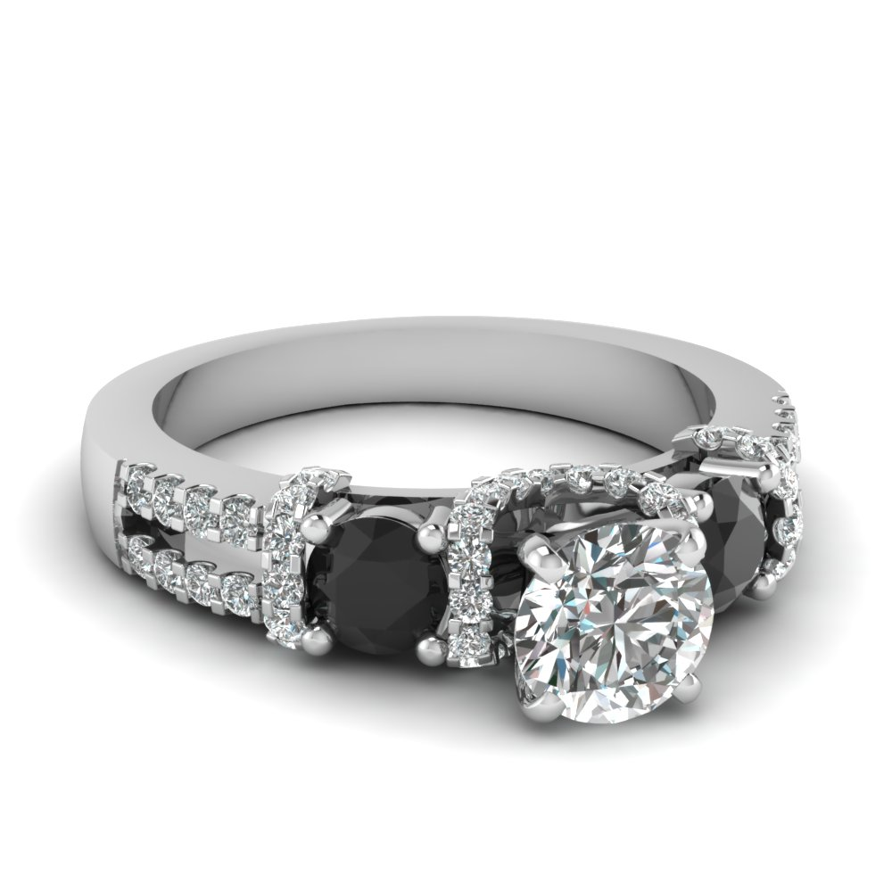 Accent Black Diamond Ring