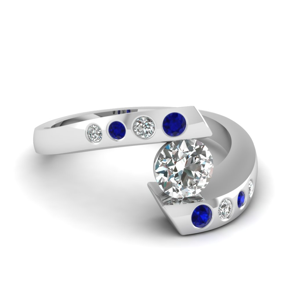 K Gold Sapphire And Diamond Ring