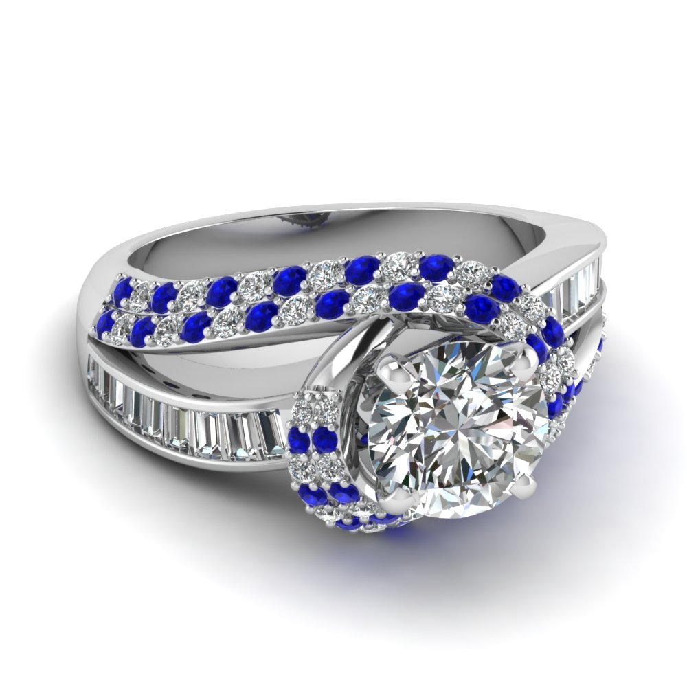 customize blue sapphire side stone engagement rings. Black Bedroom Furniture Sets. Home Design Ideas