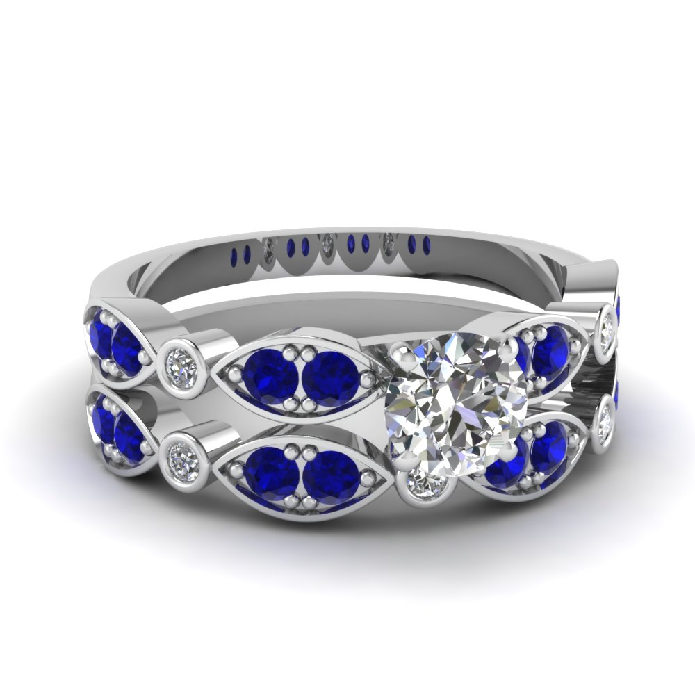 white-gold-round-white-diamond-engagement-wedding-ring-with-blue-sapphire-in-pave-bezel-set-FDENS2035ROGSABL-NL-WG