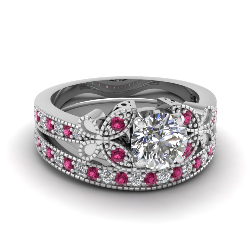 white-gold-round-white-diamond-engagement-wedding-ring-with-dark-pink-sapphire-in-pave-set-FDENS3077ROGSADRPI-NL-WG