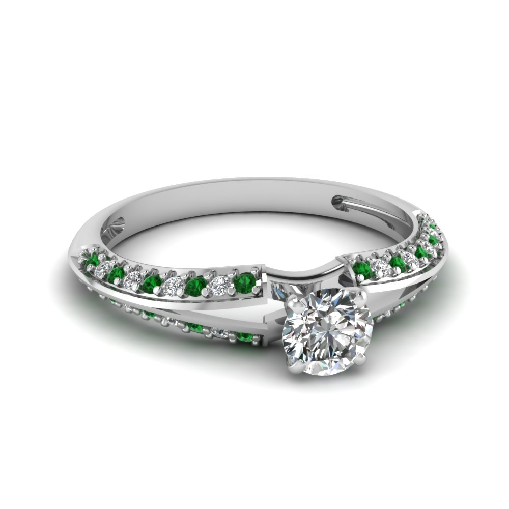 Delicate Side Stone Engagement Ring