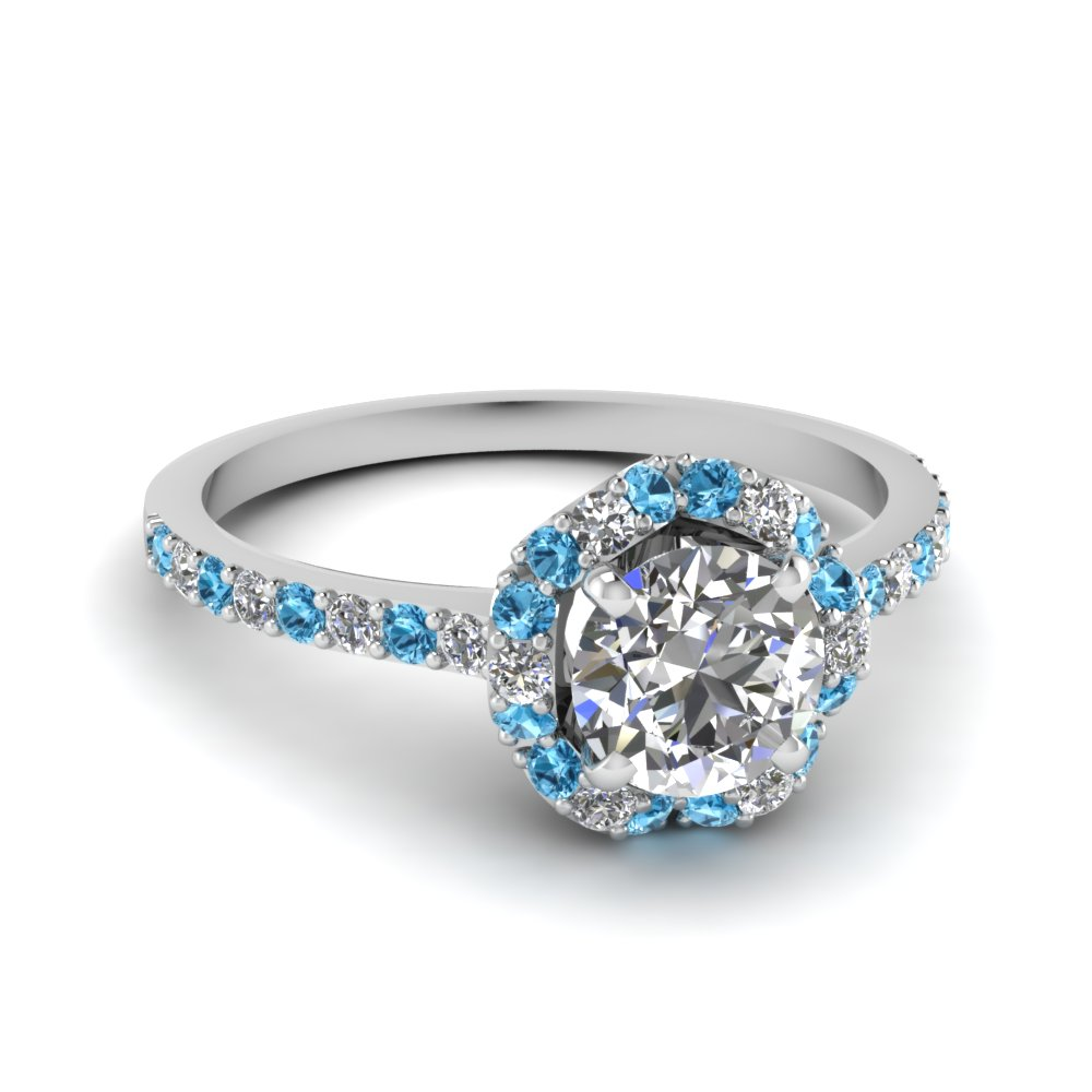 Petite Flower Diamond Engagement Ring