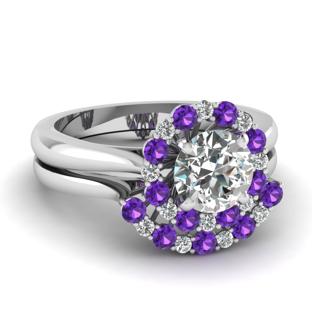 Classic Purple Topaz Bridal Set