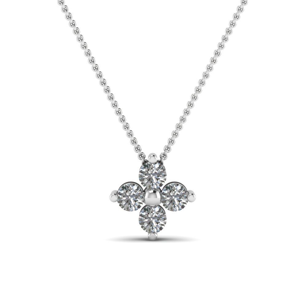Four Petal Diamond Pendant