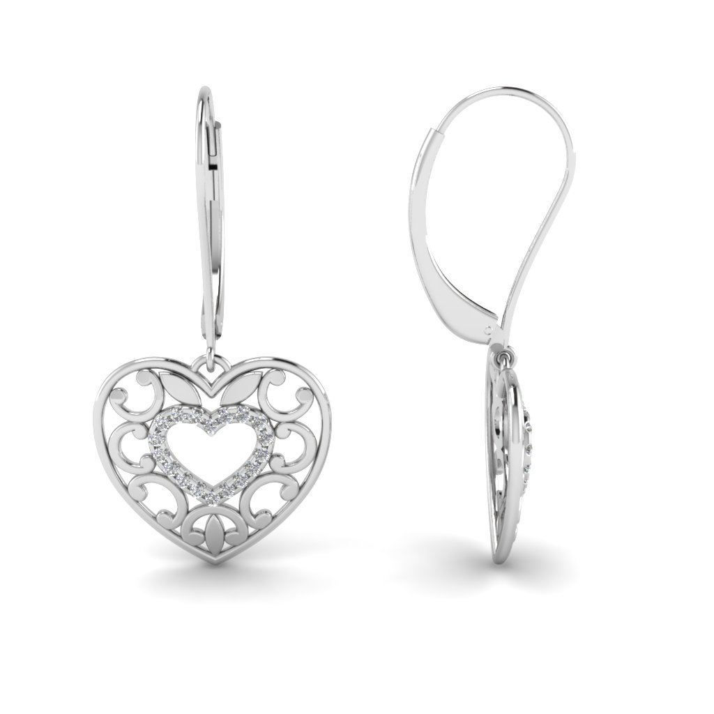 diamond ct solid certified shaped heart real p earrings natural gold w studs