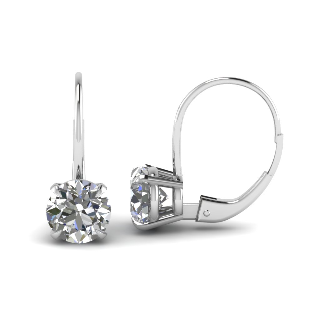 leverback hoop diamond earring in FDEAR61053 NL WG