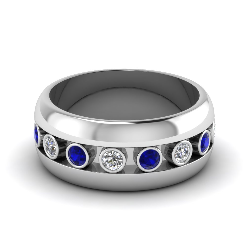 white-gold-round-white-diamond-mens-wedding-band-with-blue-sapphire-in-bezel-set-FDDB1326BGSABL-NL-WG