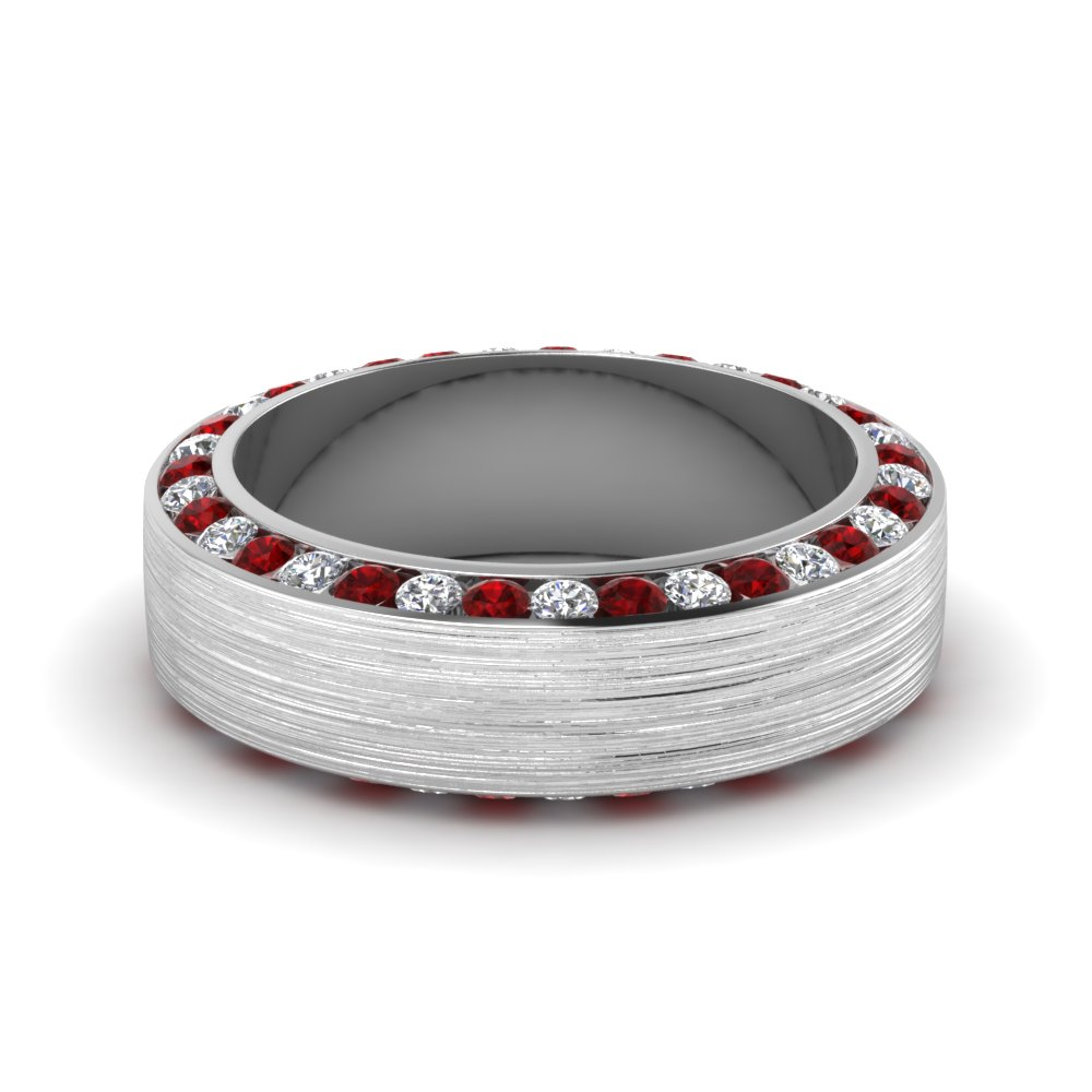 white-gold-round-white-diamond-mens-wedding-band-with-red-ruby-in-channel-set-FDDB1040BGRUDR-NL-WG