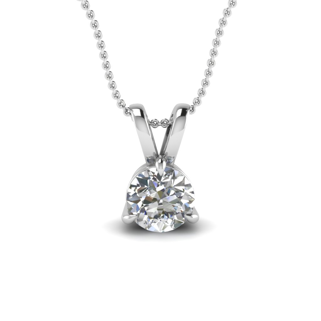 white-gold-round-white-diamond-solitaire-pendant-in-prong-set-FDPD3RO-NL-WG