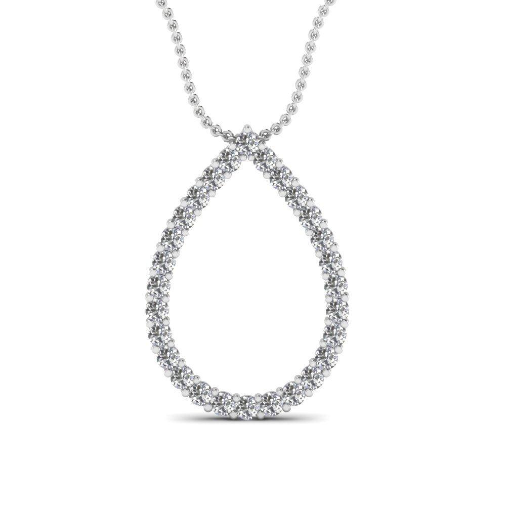 Drop Pendant With Floating Round Cut Diamonds