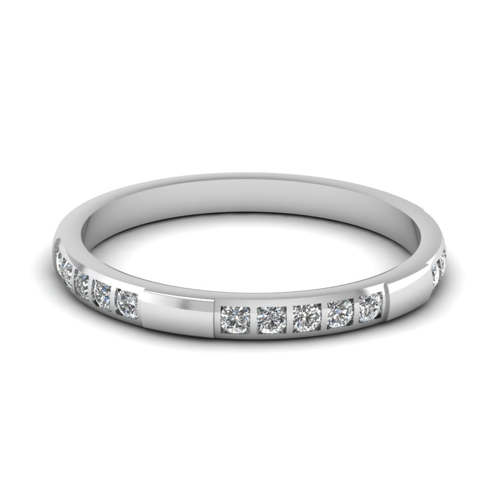 Diamond Stackable Wedding Band