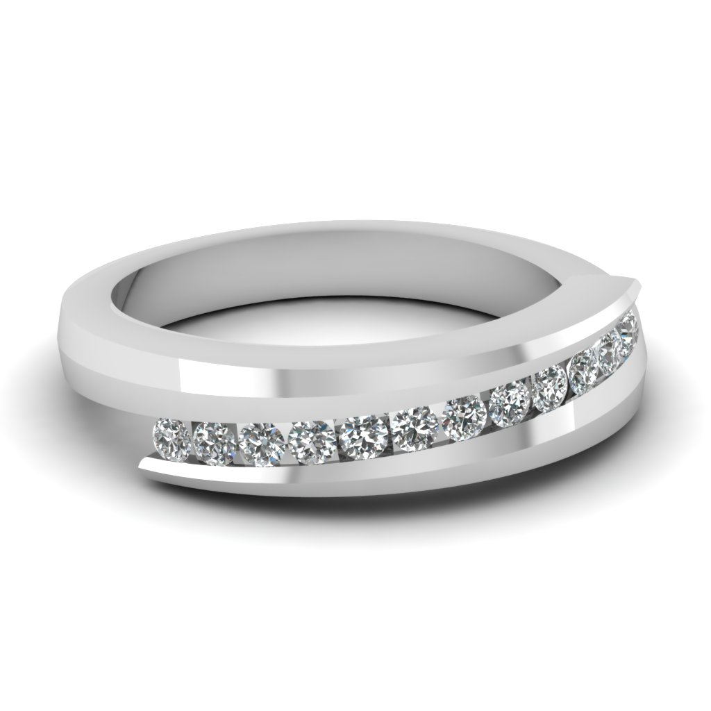 Diamond Womens Wedding Band