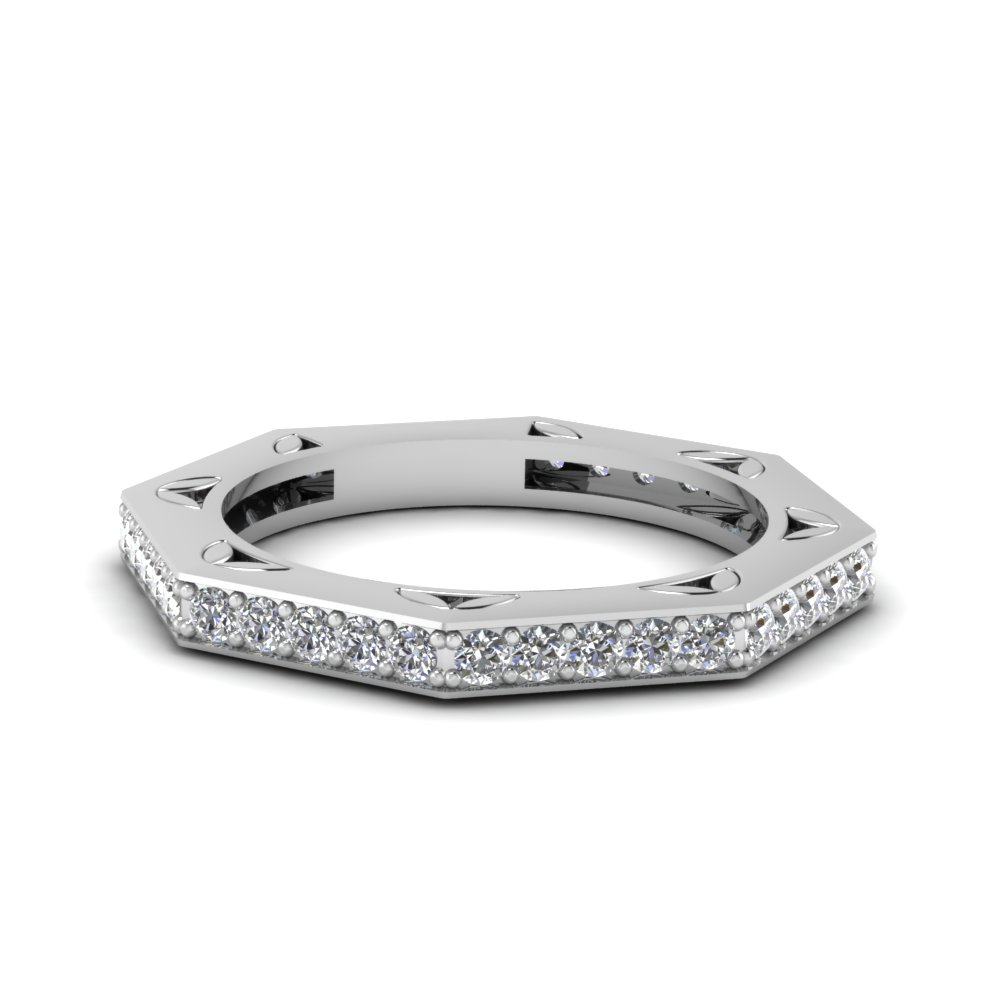 Octagon Diamond Women Band
