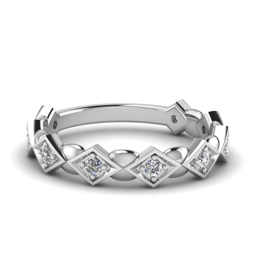 Affordable White Gold Wedding Band For Her