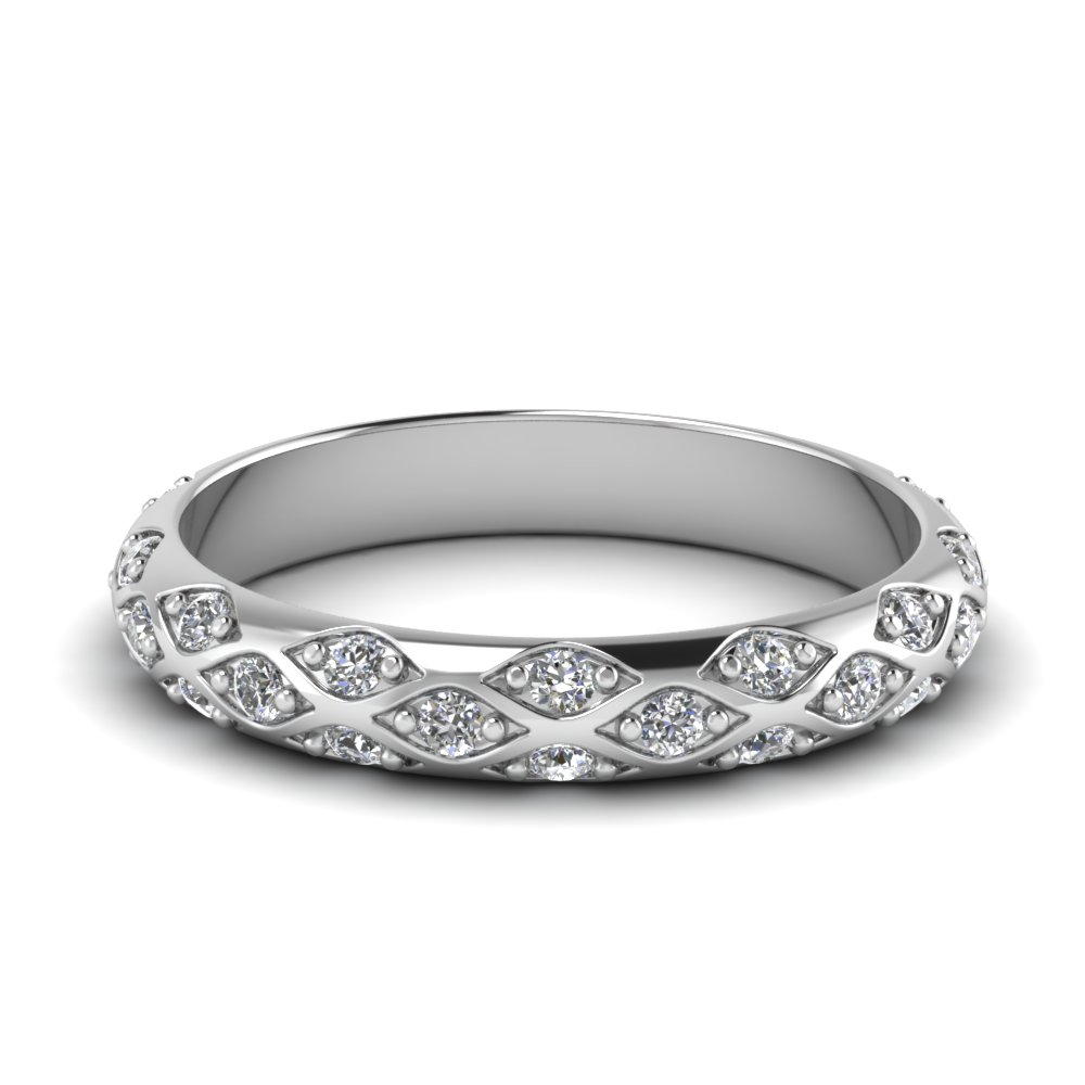Cross Pave Diamond Band
