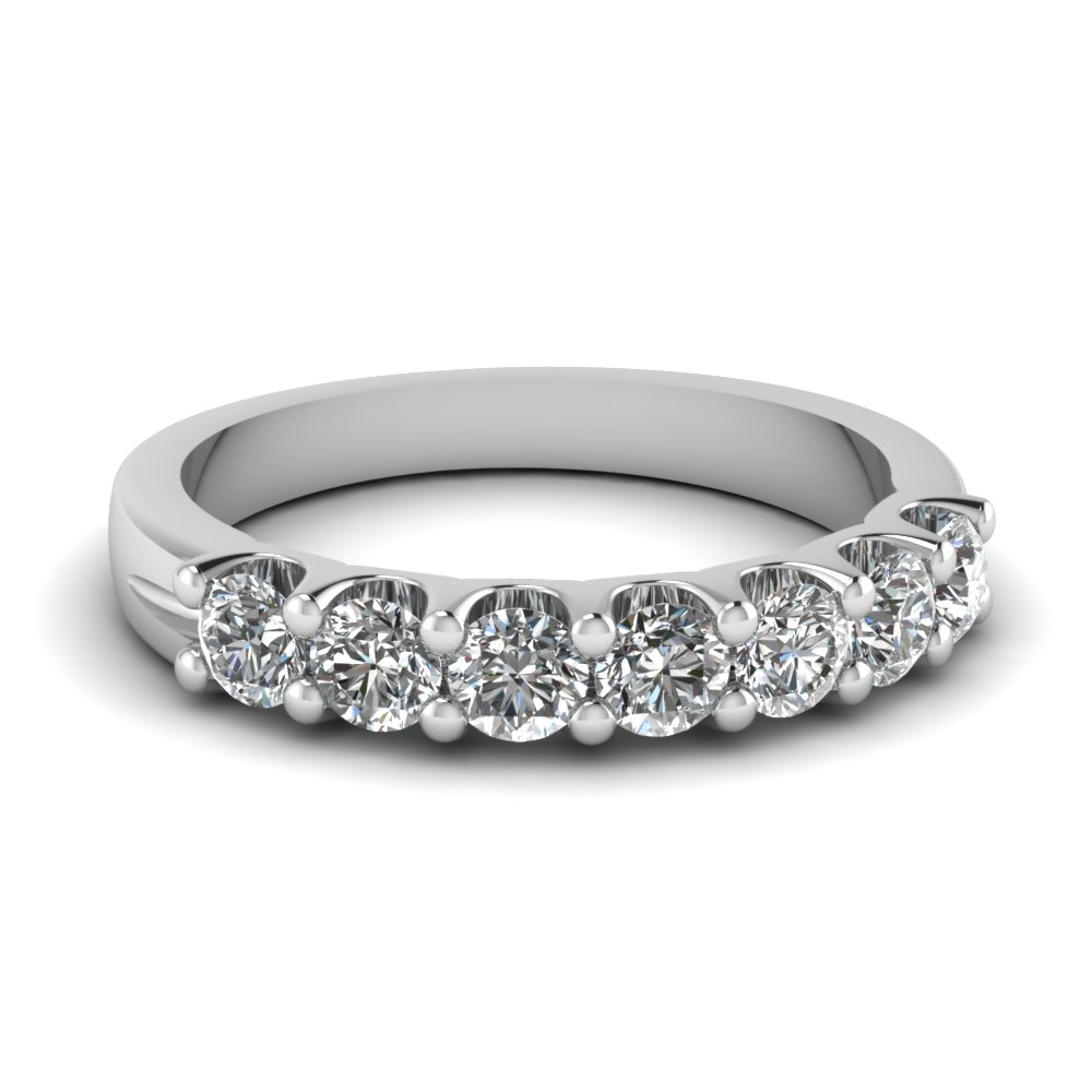 7 stone round diamond anniversary band in FDWB5200B NL WG