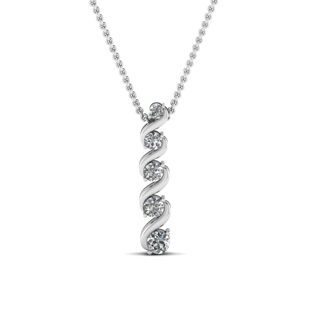 Swirl Diamond Fancy Pendant