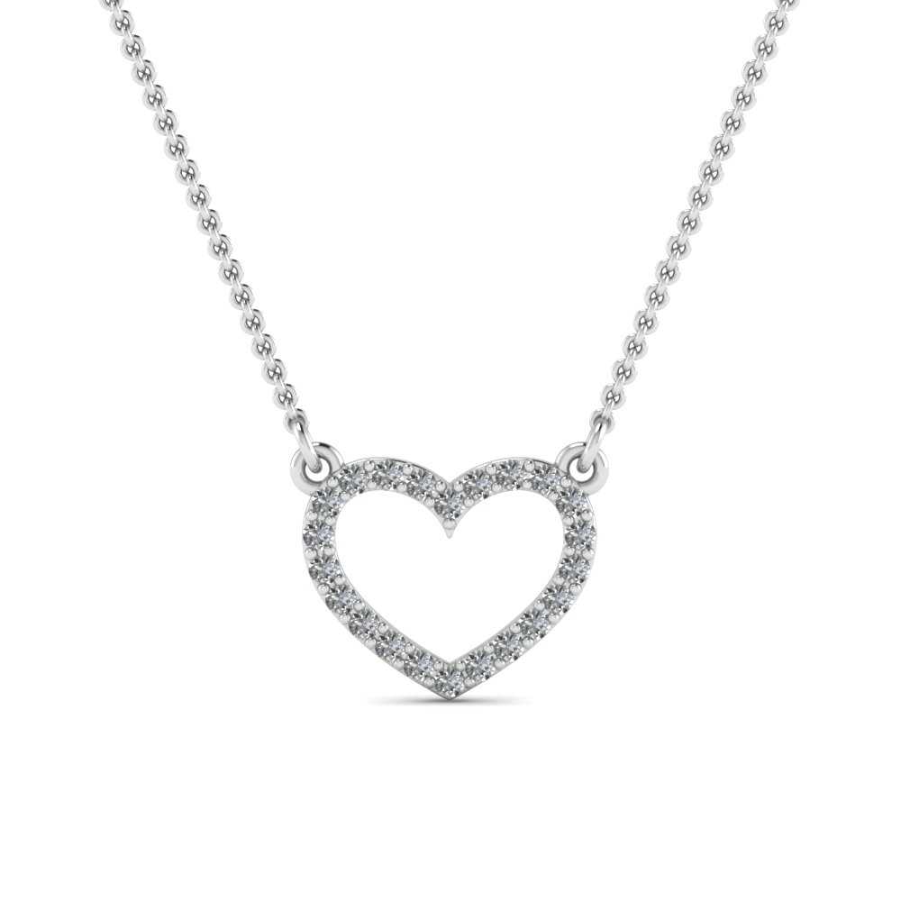 Open heart diamond pendant in 14k white gold fascinating diamonds open heart diamond pendant in fdpd66415 nl wg aloadofball