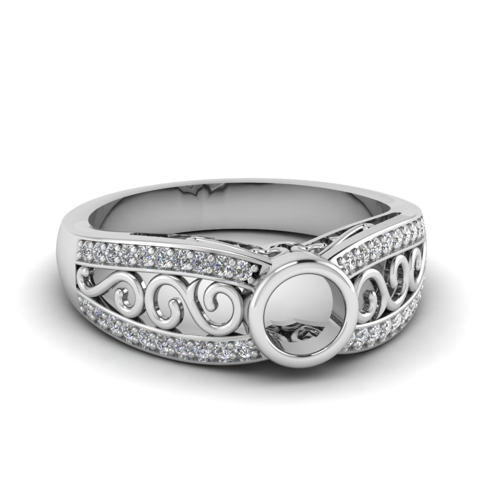 Pave Vintage Ring Settings