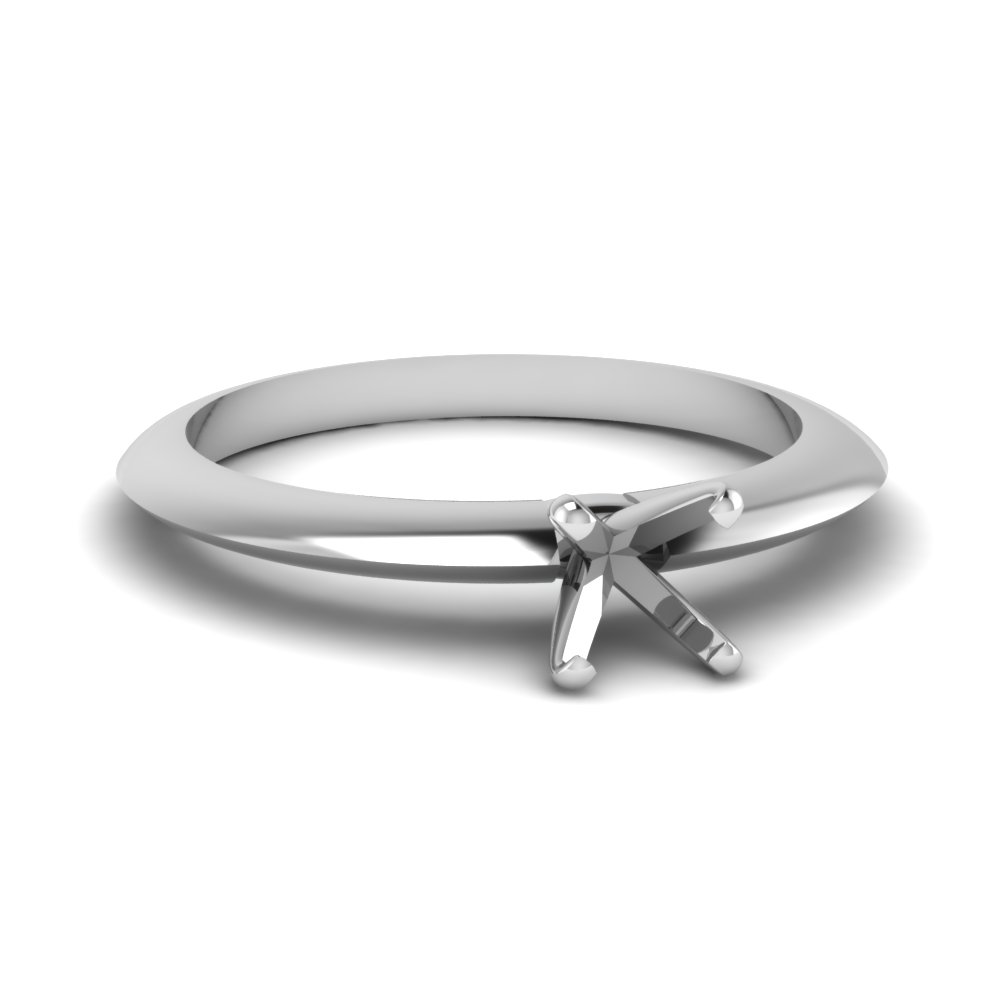 semi mount knife edge solitaire engagement ring in FDENR1283SMR NL WG