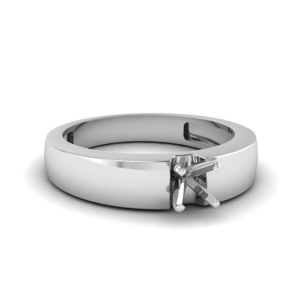 Semi Mount Thick Band Ring