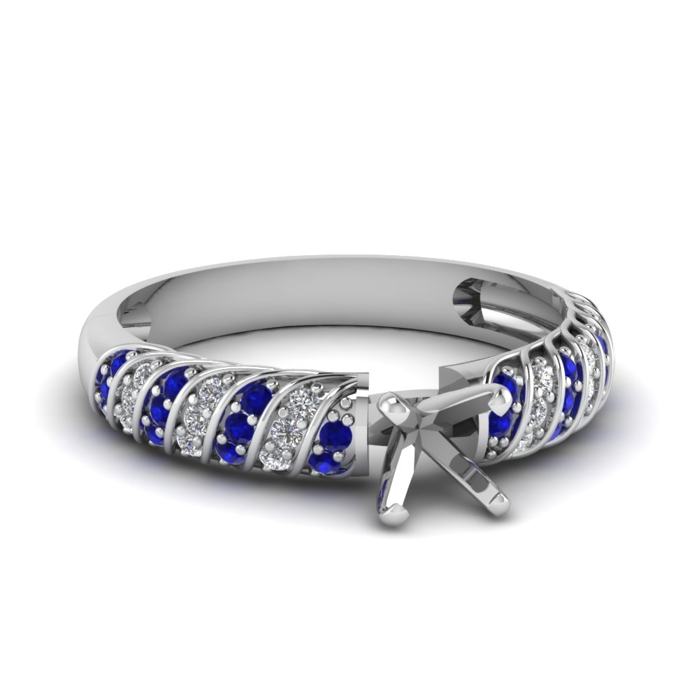 Rope Design Sapphire Ring Setting