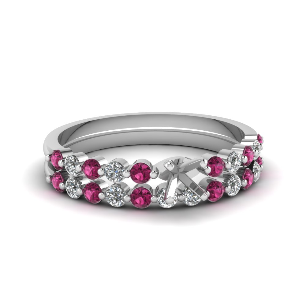 semi mount floating diamond wedding ring set with pink sapphire in FDENS3023SMGSADRPI NL WG.jpg