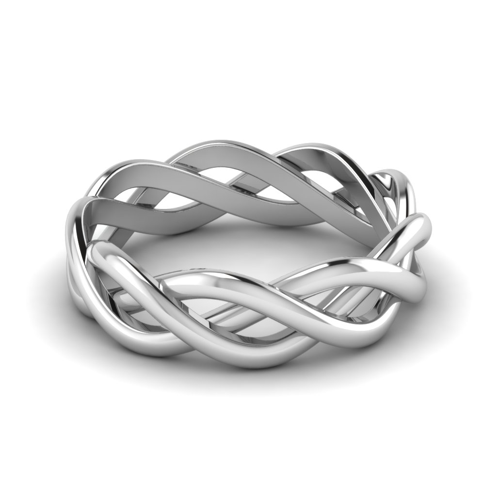 Sterling Silver Gold Infinity Band