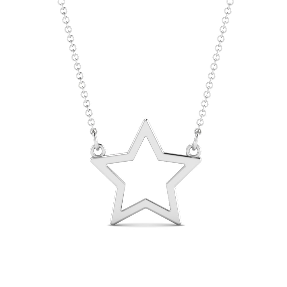 open star pendant in FDPD85877 NL WG
