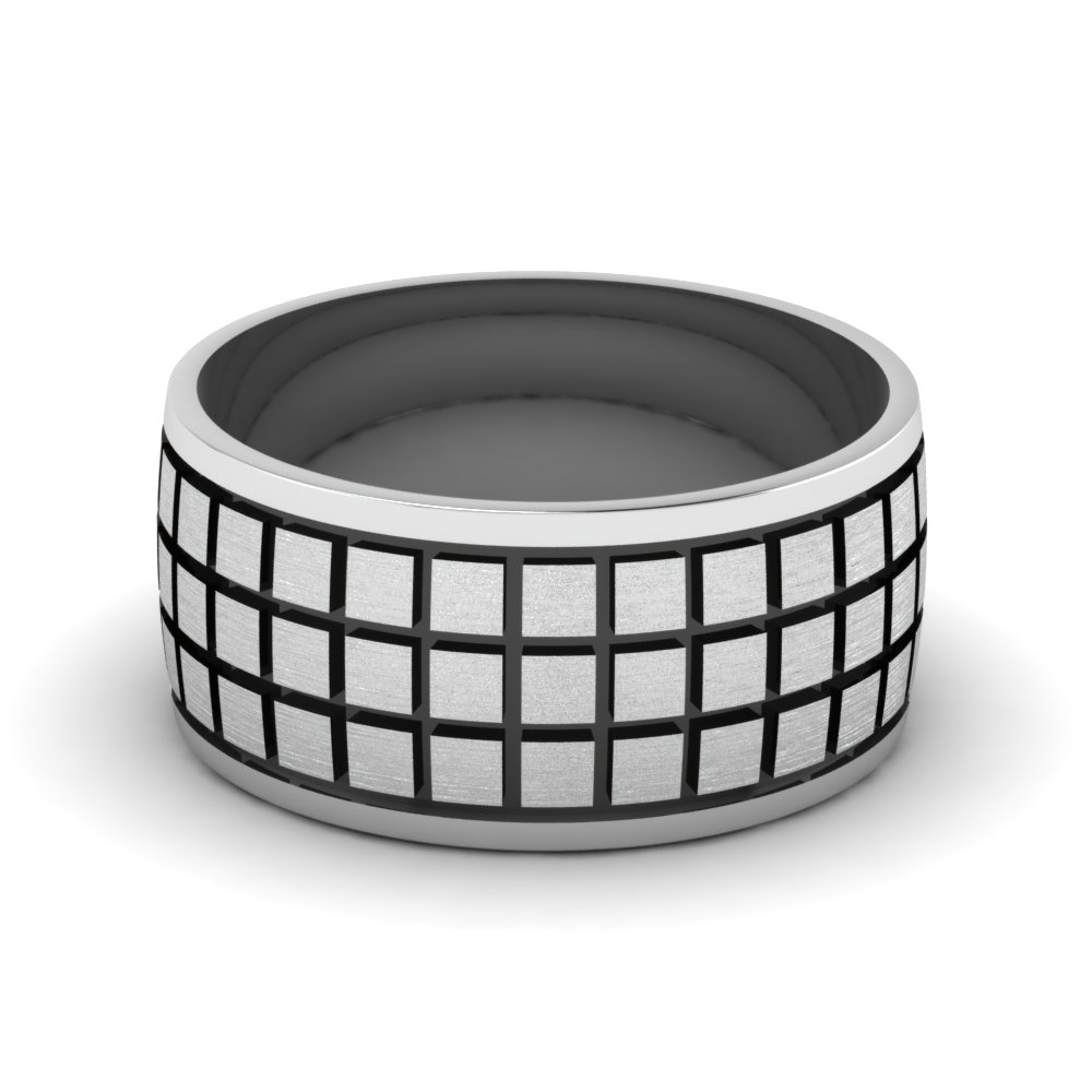 white-gold-treble-Block-design-mens-wedding-band-FDM957B-NL-WG