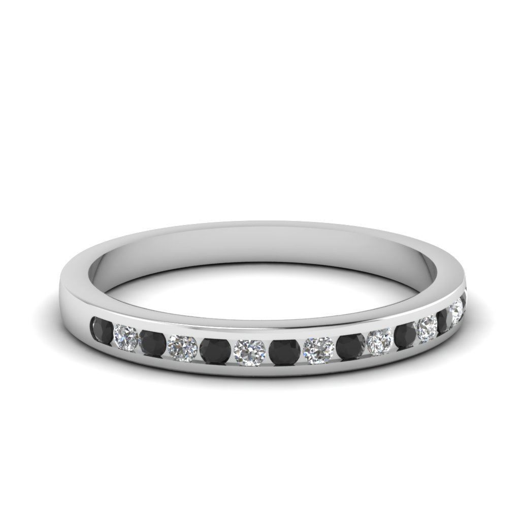 round channel set wedding band with black diamond in FD1032BGBLACK NL WG