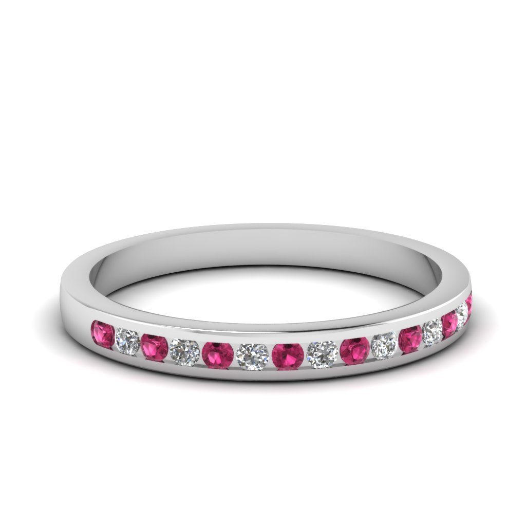 Delicate Pink Sapphire Band